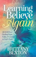 Learning to Believe Again PDF