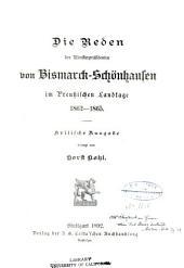 Die politischen reden des fürsten Bismarck: Band 2
