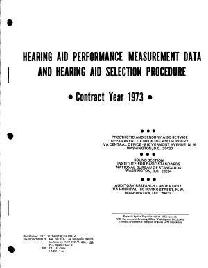 Hearing Aid Performance Measurement Data and Hearing Aid Selection Procedures PDF