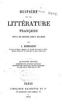 Histoire de la litt  rature fran  aise depuis ses origines jusqu    nos jours PDF