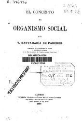 El concepto de organismo social