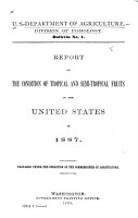 Report on the Conditions of Tropical and Semi tropical Fruits in the United States in 1887 PDF