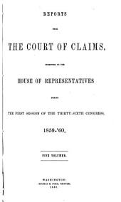 Reports from the Court of Claims Submitted to the House of Representatives: Volume 4