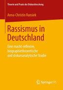 Rassismus in Deutschland PDF