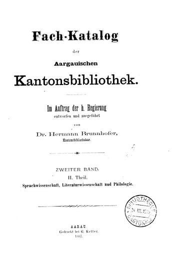 Katalog der aargauischen Kantonsbibliothek PDF
