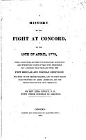 A History of the Fight at Concord PDF