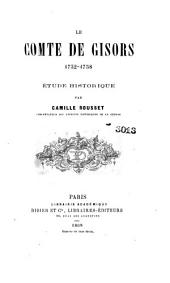 Le comte de Gisors, 1732-1758: betude historique