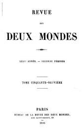 Revue des deux mondes: Volume59;Volume166