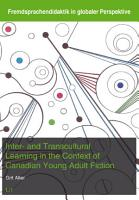 Inter  and Transcultural Learning in the Context of Canadian Young Adult Fiction PDF