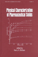 Physical Characterization of Pharmaceutical Solids