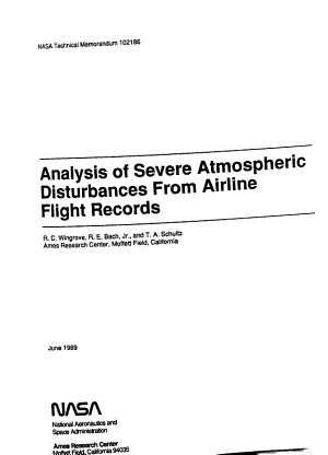 Analysis of Severe Atmospheric Disturbances from Airline Flight Records