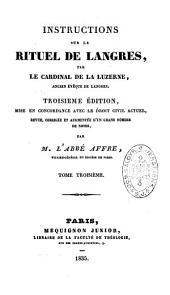 Instructions sur le rituel de Langres