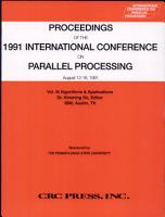 Proceedings 20th International Conference Parallel Processing 1991 PDF