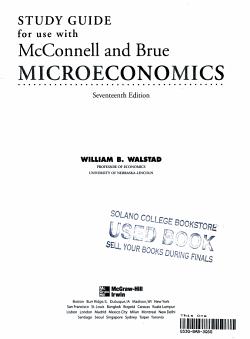 Study Guide to Accompany Microeconomics PDF