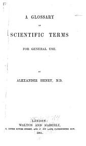 A glossary of scientific terms for general use