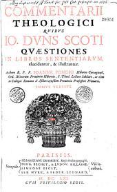 Commentarii in libros sententiarum ad mentem scoti