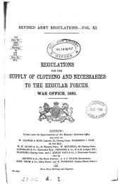 Regulations for the supply of clothing and necessaries to the regular forces