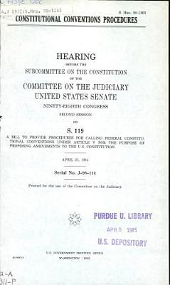 Constitutional Conventions Procedures