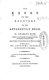 An Essay on the Recovery of the Apparently Dead