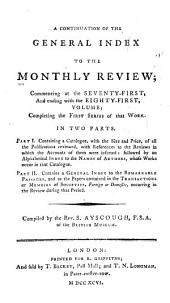 The Monthly Review, Or, Literary Journal: Volumes 71-81