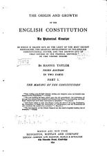 The Origin and Growth of the English Constitution  The making of the constitution PDF