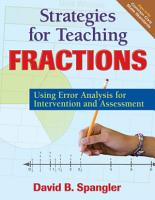 Strategies for Teaching Fractions PDF