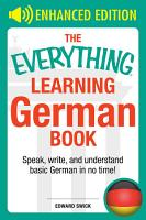 The Everything Learning German Book PDF