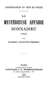 La mystérieuse affaire Donnadieu (1802)