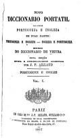 Novo diccionario portatil das linguas portugueza e ingleza     PDF