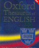 Oxford Thesaurus of English PDF