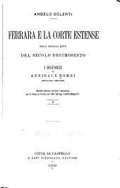 Ferrara e la corte estense nella seconda metà del secolo decimosesto