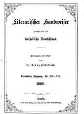 Literarischer Handweiser zunächst für alle katholische Deutschland: Band 19,Ausgaben 255-278