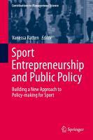 Sport Entrepreneurship and Public Policy PDF