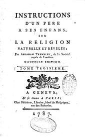 Instructions d'un père à ses enfants sur la religion naturelle et révélée par Abraham Trembley