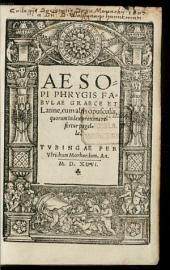 Aesop Fabulae: cum aliis opusculis