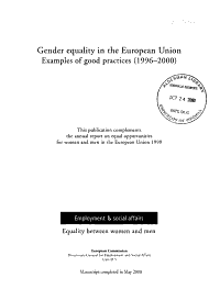 Gender Equality in the European Union PDF