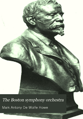 The Boston symphony orchestra: an historical sketch