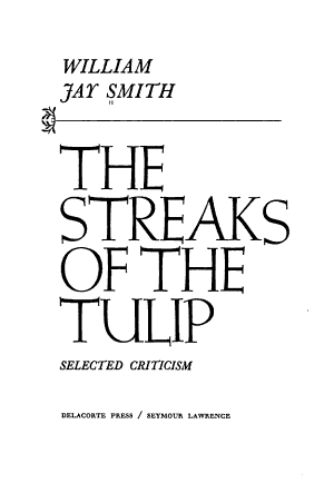 The Streaks of the Tulip  Selected Criticism PDF