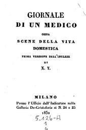 Giornale di un Medico ossia scene della vita domestica. Prima versione dall' inglese