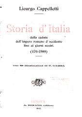 Storia d Italia dalla caduta dell Impero Romano d occidente fino ai giorni nostri  476 1900      PDF