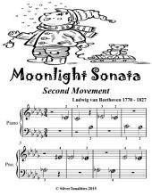 Moonlight Sonata Second Movement - Beginner Piano Sheet Music Tadpole Edition