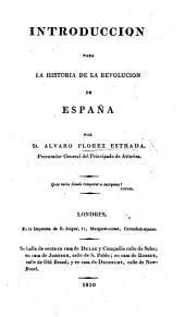 Introduccion para la historia de la Revolucion de España