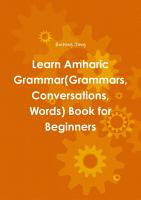 Learn Amharic Grammar Grammars  Conversations  Words  Book for Beginners PDF