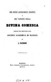 Del senso allegorico, pratico, e dei vaticini della Divina commedia, lezioni 2
