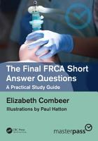 The Final FRCA Short Answer Questions PDF