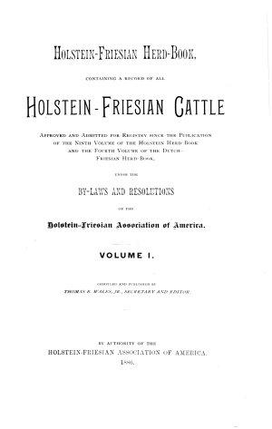 Holstein Friesian Herd book