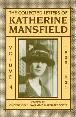 The Collected Letters of Katherine Mansfield: Volume IV: 1920-1921