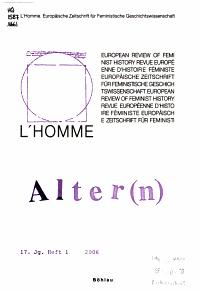 Homme  europ  ische Zeitschrift f  r feministische Geschichtswissenschaft PDF