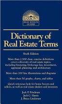 Dictionary of Real Estate Terms Book