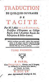 Traduction de quelques ouvrages par M. l'Abbe de la Bletezie. - Paris, Duchesne 1755
